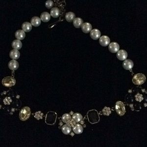 Heidi Daus pearl and daisy stone necklace